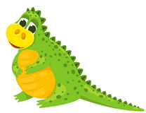 Small cartoon dragon 2 Royalty Free Stock Photo