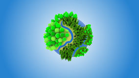 Small cartoon green planet Royalty Free Stock Photography