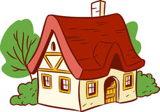 Small cartoon house Stock Images