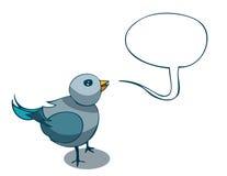 Small Cartoon Light Blue Sparrow. Royalty Free Stock Image