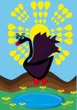 Small cartoon swan Royalty Free Stock Photos