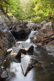 Small Cascade on Bay Brook. In the Adirondacks royalty free stock image