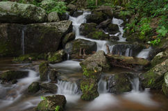 Small Cascade in Crabtree Falls Basin Royalty Free Stock Image