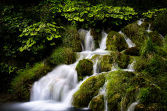 Small cascade at Plitvice Lakes II Royalty Free Stock Photo