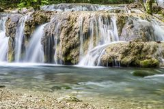 Small cascade on river Royalty Free Stock Photography