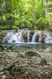 Small cascade on river Stock Photography