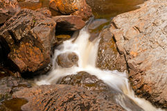 Small Cascade in a Rocky Canyon Royalty Free Stock Photo
