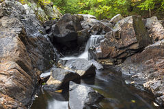 Small Cascade on Tongue Mountain. In the Adirondacks stock photos