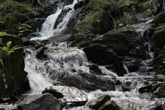 Small cascade of waterfalls Royalty Free Stock Photography