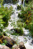 Small cascade in Wilhelmshoehe Berg park. The Kassel water games Royalty Free Stock Image