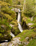 Small cascades at head of Pistyll Rhaeadr. Small waterfalls and cascades at head of Pistyll Rhaeadr falls in Wales Stock Image