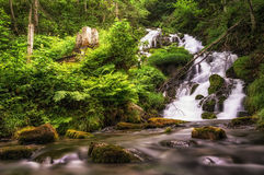 Small cascading waterfall Royalty Free Stock Photos