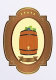 Small cask  with wine Royalty Free Stock Images