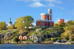 Small Castle and Church of Catherine in Stockholm, Sweden Stock Photo