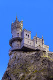 Small castle on a cliff above the sea Swallow's Nest. Symbol of Crimea small castle on a cliff above the sea Swallow's Nest Royalty Free Stock Images