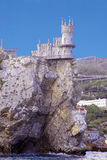 Small castle on a cliff above the sea. Symbol of Crimea small castle on a cliff above the sea Swallow's Nest Royalty Free Stock Photos