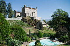 Small castle in France Royalty Free Stock Images