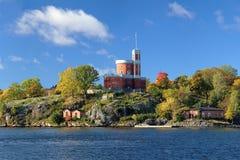 Small Castle on Kastellholmen island in Stockholm Royalty Free Stock Image