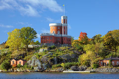 Small Castle on Kastellholmen island in Stockholm Royalty Free Stock Photography