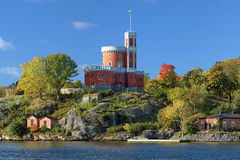 Small Castle on Kastellholmen island in Stockholm Royalty Free Stock Images