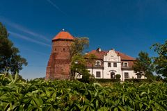 Small Castle in Poland Stock Image