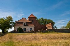 Small Castle in Poland Stock Photography