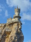 Swallow`s Nest - a fortress floating in the sky in Crimea stock photo