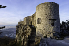 Small castle with stairs and tower Royalty Free Stock Photography