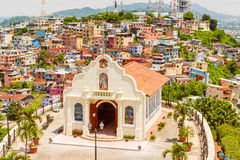 Small Catholic Chapel In Cerro Santa Ana Guayaquil Royalty Free Stock Photo