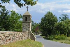 Small catholic chapel in Poland. Village Poswietne Stock Image