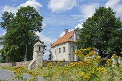 Small catholic chapel in Poland. Village Poswietne Stock Photo