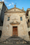 Small Catholic Church in Perast, Montenegro Stock Images