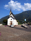 Small Catholic church in the resort town of Dimaro in the Brenta Stock Images