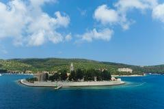 Small Catholic monastery on island Vis, Croatia. Stock Photo