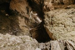Small cave in Montenegro stock photos