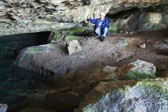 Small cave paddle (Crimea, Ukraine). Royalty Free Stock Photo