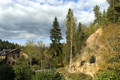Small caves. In national park Ligatne, Latvia Royalty Free Stock Photos