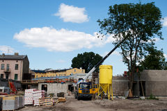 Small cconstruction site. Construction site on  summers day Stock Photography