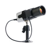 Small CCTV security camera for indor isolated Stock Image