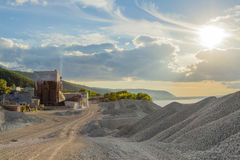 Small cement factory Royalty Free Stock Photo