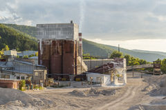 Small cement factory Stock Image