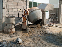 Small cement mixer Stock Image