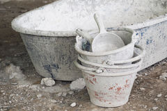 Small cement tank for construction Royalty Free Stock Photos