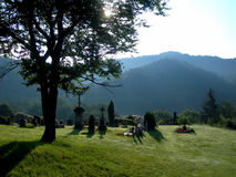 Small cemetery royalty free stock photography