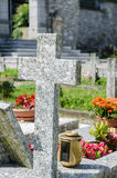 Small cemetery in Italy Stock Photos