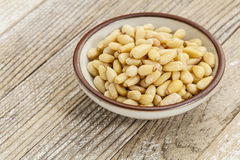 Bowl of pine nuts Royalty Free Stock Photos