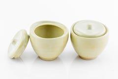 Small ceramic bowls Stock Photos
