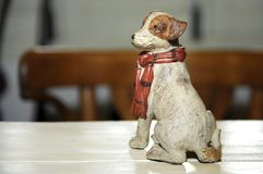 Ceramic figure of a dog royalty free stock photos