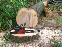 Small chainsaw Stock Photos