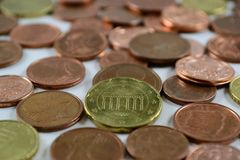Small change. A lot of small change Royalty Free Stock Photo